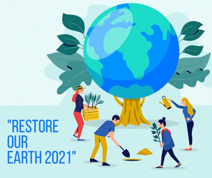 Earth Day 2021 logo says